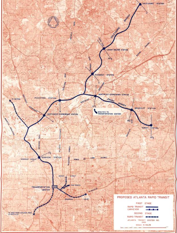 Rapid Atlanta, Atlanta Transit System, Inc., 1960. (Berkeley Transportation Library).