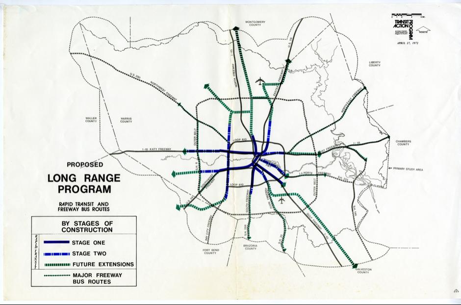 """Long Range Program,"" 1973. (Courtesy of the Houston Metropolitan Research Center)."