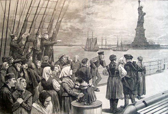 Image result for painting depicting immigrants arriving in america