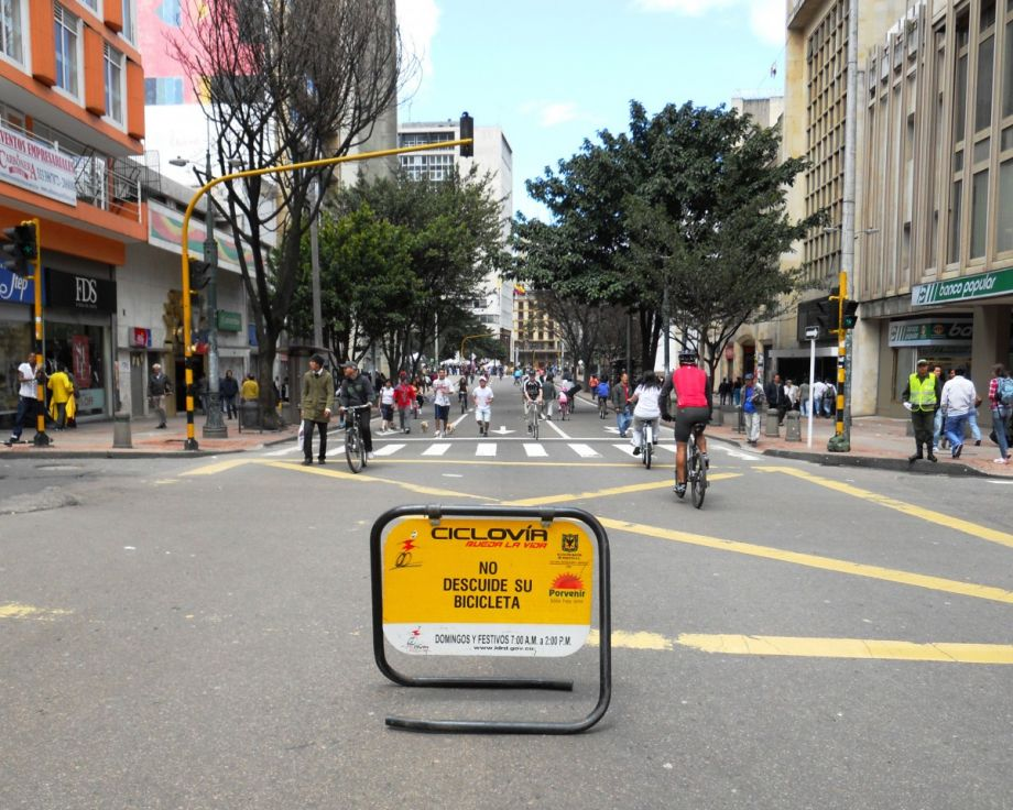 In Bogota, Colombia, Gil Penalosa instituted Ciclovia, a car-free streets event. (Photo by Pedro Felipe)