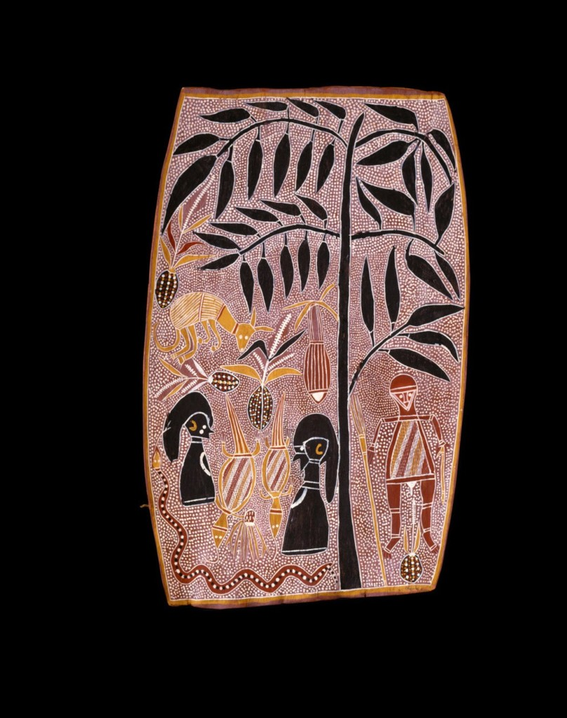 David Malangi Daymirringu, Mortuary feast of Gurrmirringu, the Great Ancestral Hunter, 1963. CLICK TO ENLARGE. National Gallery of Australia, Canberra Founding Donors' Fund 1984 © David Malangi Daymirringu
